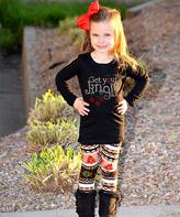 Beary Basics Black 'Get Your Jingle on' Top & Leggings - Toddler & Girls