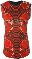 Balmain printed vest - women - Cotton - 36