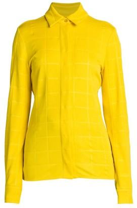 Bottega Veneta Gridded Long-Sleeve Shirt