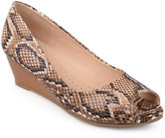 Journee Collection Womens Chaz Pumps Peep Toe Wedge Heel