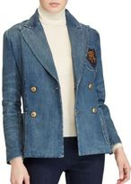 Polo Ralph Lauren Denim Double-Breasted Blazer