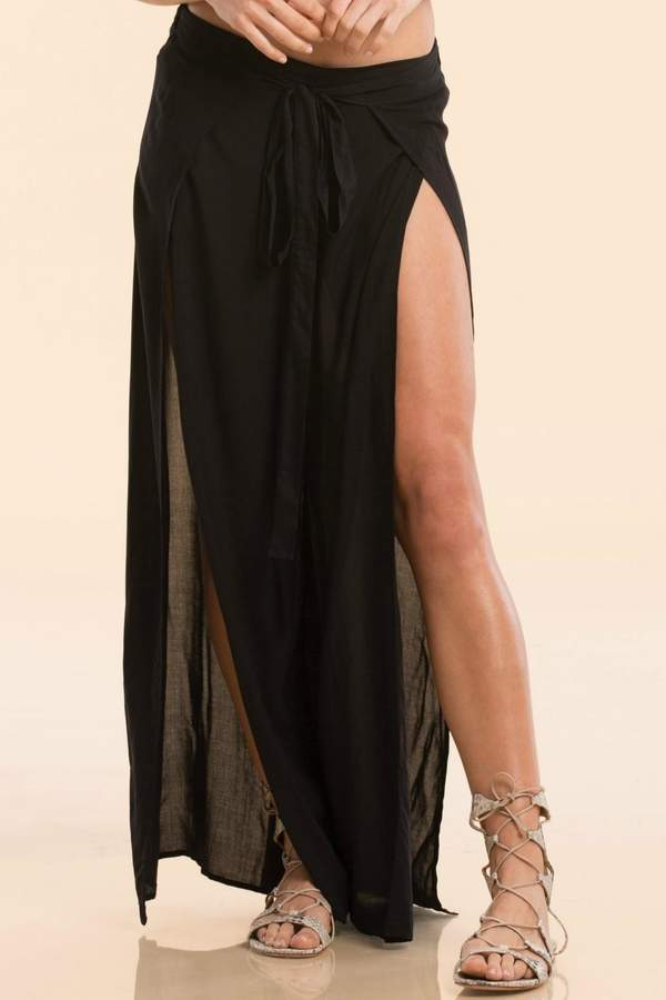 Elan International Black Wrap Pants