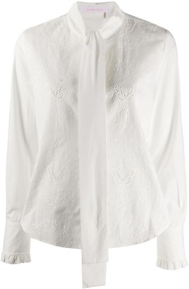 See by Chloe Pussy-Bow Broderie Anglaise Blouse