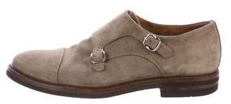 Brunello Cucinelli Suede Monk Strap Shoes