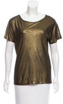 Maje Metallic Short Sleeve Top
