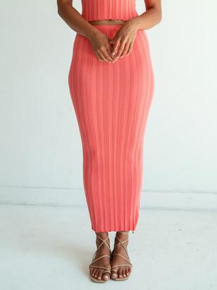 The Line By K Etta Ribbed Midi Skirt