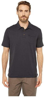 Prana r) Polo (Black) Men's Clothing