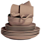 Gordon Ramsay Maze 16 Piece Taupe Dinnerware Set