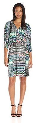 Amy Byer Women's Silky Knit Sleeveless Empire Bubble Dress