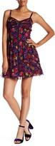 Anna Sui Flower Crinkle Sheer Minidress