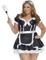 Mystery House Women's Plus-Size Flirty French Maid