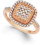 Macy's Diamond Square Ring in 10k Rose Gold (3/8 ct. t.w.)