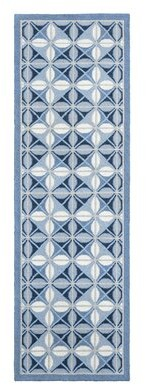 """Company C Delphine Hand-Knotted Wool Blue Area Rug CompanyC Rug Size: Runner 2'6"""" x 8'"""