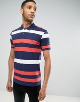 Benetton Polo Shirt In Multi Stripe