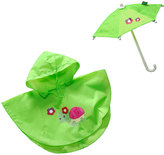 Dollie & Me Green Rainy Day Outfit for 18'' Doll