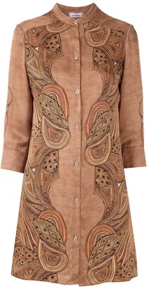 AMIR SLAMA Silk Shirt Dress