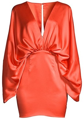 Fame & Partners Karina Ruched Satin Dress
