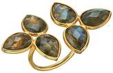Dee Berkley Gemstone Flower Ring Labradorite