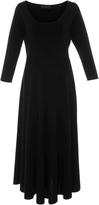 Co Long Sleeve Scoop Neck Dress