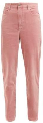 Etoile Isabel Marant Arsy High Rise Velvet Jeans - Womens - Pink