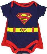 """Superman Infant Baby Boys """"Creeper Onesie Bodysuit Snapsuit"""" With Cape (3-6 mo., )"""