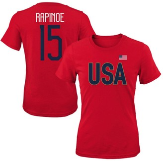 Outerstuff Women's Megan Rapinoe Red USWNT 2019 FIFA Women's World Cup Champions Name & Number T-Shirt