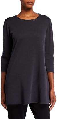 Caroline Rose Ponte Luxe Flare 3/4-Sleeve Tunic