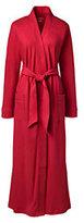 Lands' End Women's Petite Cotton Robe-Light Pink