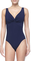 Karla Colletto Twist-Front One-Piece