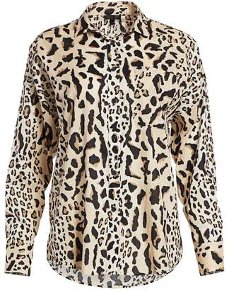 ATM Anthony Thomas Melillo Oversize Leopard-Print Shirt