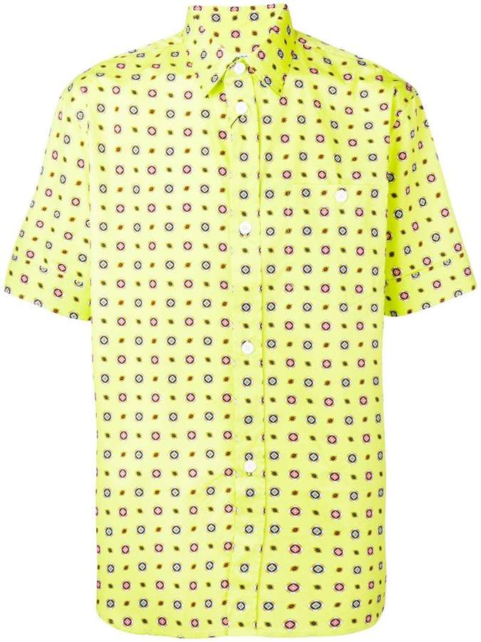 b60851ca Mens Yellow Short Sleeve Collar Shirt - ShopStyle