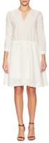 The Kooples Cotton Embroidered Eyelet Flared Dress
