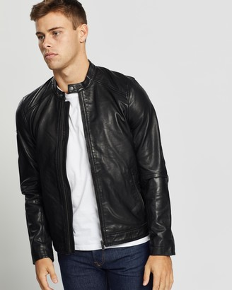 Superdry Hero Light Leather Racer Jacket