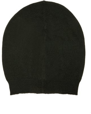 Rick Owens Ribbed-cuff Cashmere Beanie Hat - Womens - Green