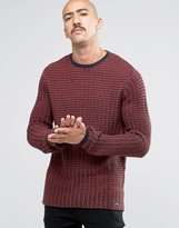 ONLY & SONS Knitted Crew Neck in Waffle
