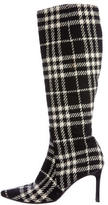 Burberry House Check Mid-Calf Boots