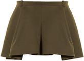 Balenciaga Pleat-front twill mini skirt