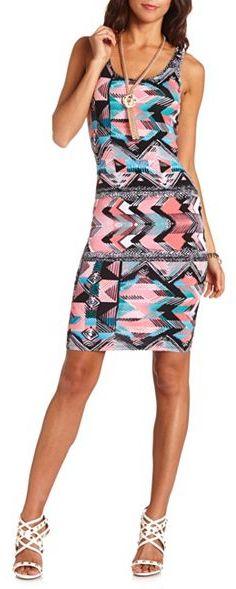 Charlotte Russe Slashed Back Body-Con Midi Dress