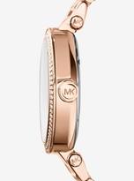 Michael Kors Parker Pave Rose Gold-Tone Watch