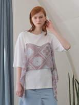 Wardrobe Flare Paisley T-shirt_white