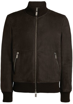 Pal Zileri Leather Bomber Jacket