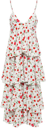 Dodo Bar Or Tiered Stretch-crepe Midi Slip Dress