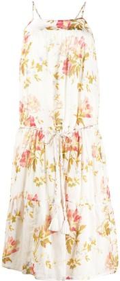 Semi-Couture Floral Print Midi Dress