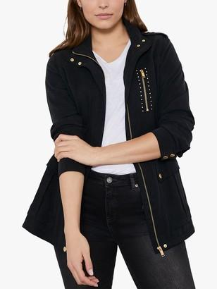Mint Velvet Khaki Studded Jacket