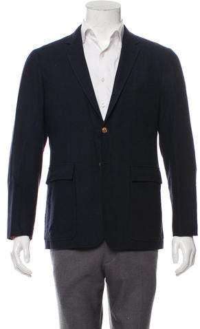 Thom Browne Suede-Accented Wool & Cashmere Blazer