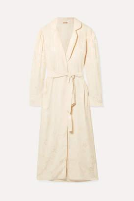 Johanna Ortiz Western Intrigue Brocade Kimono - Ecru