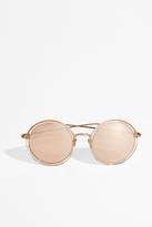 Linda Farrow Luxe Ash Rose Gold Round Sunglasses