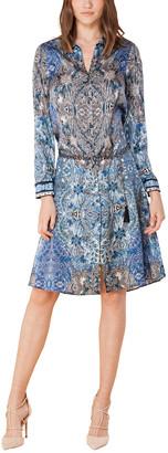 Hale Bob Silk-Blend Shirt Dress