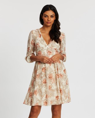 Forcast Amya Floral V-Neck Dress
