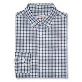 Merona Men's Plaid Button Down Shirt Blue
